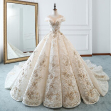 Xi Diao Luxury Princess Lace Embroidery Wedding Dresses