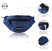 The X Woof - Water Repellent Wasit Bag, Ship-Mi Blue Blue