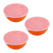 PLASTIK ONE Mangkok EL (M) - EL-0025 Set of 3 - Orange