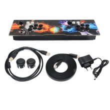 COZIME 1099 Games in 1 Video Fight Home Arcade Console with Dual Joystick Black  EU plug