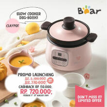 Bear Slow Cooker 0.8 Liter