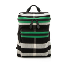 Pre-Owned Burberry Check Print Canvas Backpack