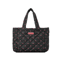 Pre-Owned Marc By Marc Jacobs Crosby Quilt Nylon Printed Fruit Small Tote
