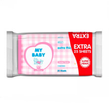 MY BABY Baby Wipes Sweet Floral - 50 + 25s
