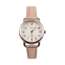 Coach Women's Delancey Metallic Rose Leather Strap Watch 145022 Rose Gold101292202