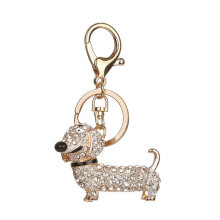 Diamond Cute Puppy Keychain Bag Keyring Pendant Hanging Ornaments Decor BZ370 White