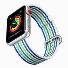Tali Jam Apple Watch Blue Strip Nylon Woven Canvas Strap Band 38mm