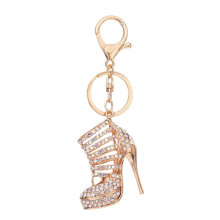 High-Heeled Shoes Shape Keychain Lady Bag Pendant Key Chain Perfect Decoration silver-white