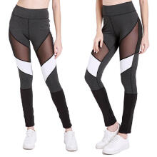 Women Workout Hollow ColorBlock Leggings Fitness Sport Gym Yoga Athletic Pants_Black_M