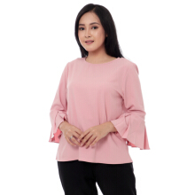KORZ Blouse With Pleat Sleeve