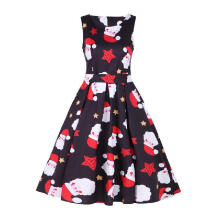 Maodapa Womens Vintage Santa Christmas 1950s Retro Xmas Evening Prom Swing Dress