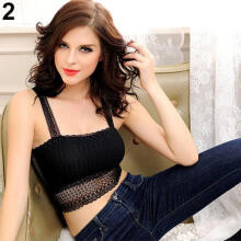 Fashion Beauty Women Fashion Lace Butterfly Crop Top Vest Camisole Bra Sexy Stretchy Tank Top