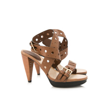 Pre-Owned Tod's Women's Perforated Heeled Sandals