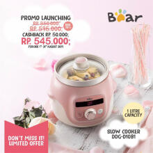 Bear Digital Slow Cooker with Ceramic Pot - 1 Liter