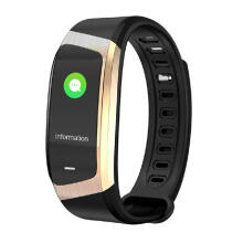 E18 Smart Band Heart Rate Monitor Fitness Tracker IP67 Waterproof Sports Bracelet for Android IOS smart watch men girls boy Black