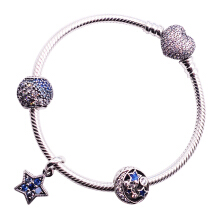 PANDORA Pandora Pave Pavé Blue Magic Star Set D727376992032 Silver 18CM
