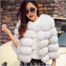 Shopping funny - Women's 2018 winter new imitation fur coat thick warm jacket (Freeshiping) White XS