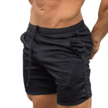 Men's Sports Training Bodybuilding Summer Shorts Workout Fitness GYM Short Pants_M
