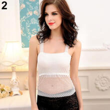 Fashion Beauty Women's Sexy Hollow Butterfly Y Back Lace Anti Emptied Top Cami Singlet Vest