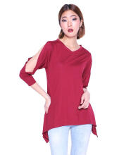 Miyoshi Josei MJ012BRDE16 Blouse Red