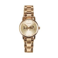 Coach Womens Grand Gold Case and Bracelet Watch Model 14502976