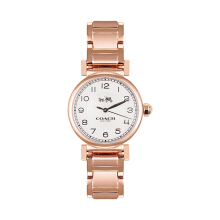 New COACH Womens Madison Fashion 32mm White/Rose Gold Watch 145023