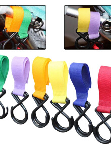 Keymao stroller accessories baby stroller toy hook stroller storage bag shopping bag hook baby stroller lanyard
