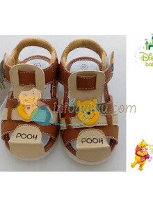 Disney Baby Shoes Marlon Winnie The Pooh Color Brown Cream Size 22