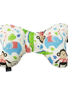LA MILLOU Travel Pillow Angel's Wings 100% Bamboo  Travel Pillow -  Happy Monkey AW081BB