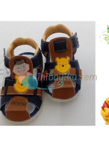 Disney Baby Shoes Marlon Winnie The Pooh Color Navy Brown Size 23