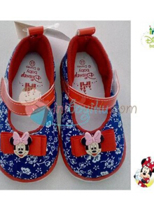 Disney Baby Shoes Belle Minnie Mouse Blue Red Size 21