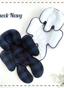 CUDDLE ME Seat Pad (Alas Stroller / Car Seat) - Check Navy