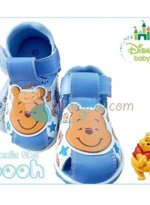 Disney Baby Shoes Gypsy Winnie The Pooh Color Blue Size 18