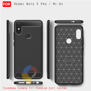 Tokomuda Carbon Fiber Premium Case for Xiaomi Redmi Note 5 pro Mi 6x (5.99