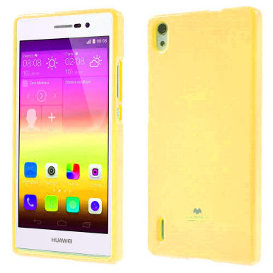 Goospery Mercury Jelly Case For Huawei Ascend P7 - Kuning kuning