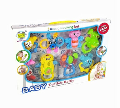Mainan Bayi kerincingan Baby Teether Rattle 608-59