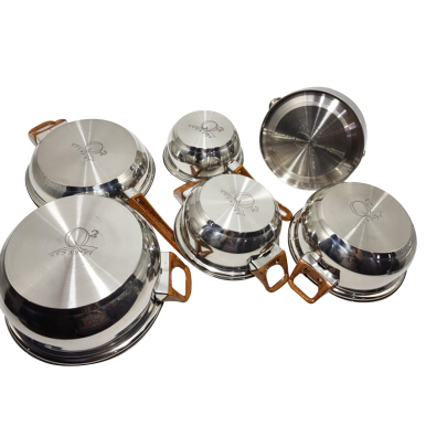 Q2 Panci Set Stainless Steel 12 Pcs Silver