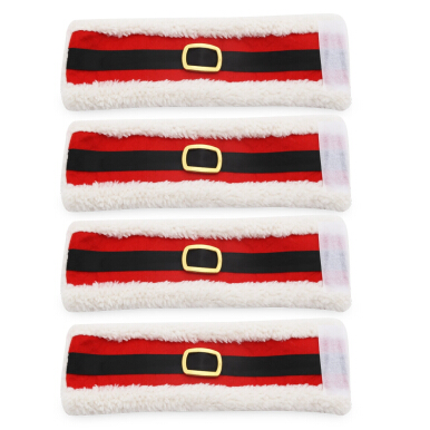 4pcs Lint Christmas Napkin Ring Tissue Holder Dinner Table Decoration