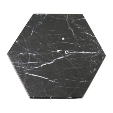 GLERRY HOME DÉCOR Hexagon Black Zircon Marble - 20Cm
