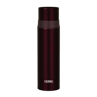 THERMOS Stainless Slim Bottle - Brown 500 ml (FFM-500 BW)