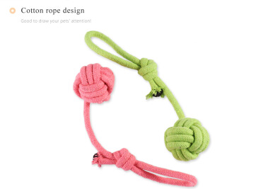 Weave Candy Color Rope Pet Toy Puppy Chew Bite Gadget RANDOM COLOR