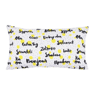 GLERRY HOME DÉCOR Hello Namaste Cushion - 30x50Cm