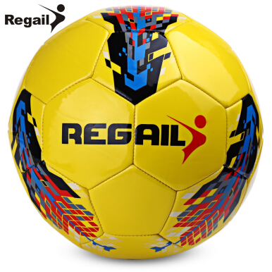 Regail Size 5 PU Machine Sewn Soccer for Teenager Football Training