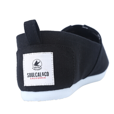 Soul Cal -Canvas shoes a foot of women's cloth shoes light breathable, the British style of the summer with low help shoes-Black