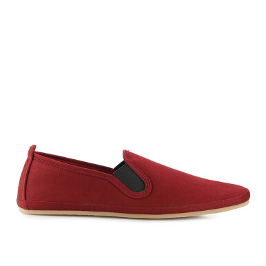 Minarno Minarno Maroon Canvas Slip-On ND133 - Maroon [39]