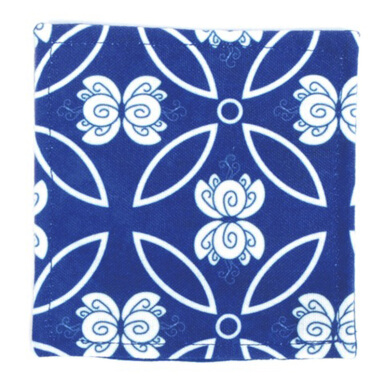 GLERRY HOME DÉCOR Dew Blue Glass Coaster