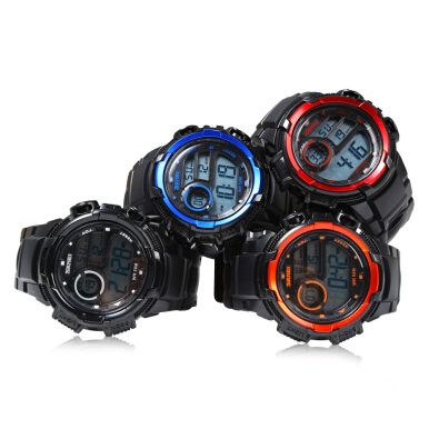 SKMEI 1113 Men LED Digital Watch Colorful Silicone Sport Water Resistant Wristwatch