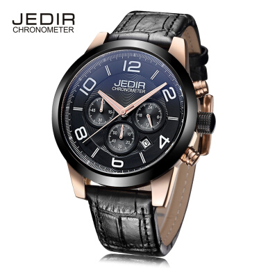 JEDIR 2025 Male Quartz Watch 24 Hours System Chronograph Luminous Men Wristwatch