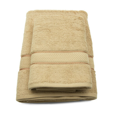 TERRY PALMER Premium Towel Bath & Travel 500g Set of 2 - Nude Brown/ SET2TP1001-50NN-NBW