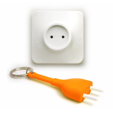QUALY Unplug Key Ring - Orange/QL10076OR
